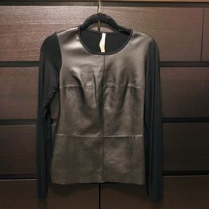 Tops - Leather top-with soft lining.